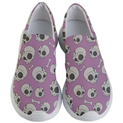 Halloween Skull Pattern Women s Lightweight Slip Ons