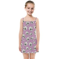 Halloween Skull Pattern Kids Summer Sun Dress