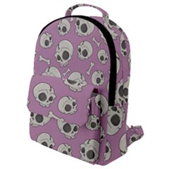 Halloween Skull Pattern Flap Pocket Backpack (small)