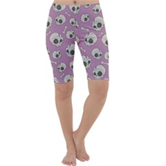 Halloween Skull Pattern Cropped Leggings