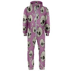 Halloween Skull Pattern Hooded Jumpsuit (men)