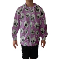 Halloween Skull Pattern Hooded Windbreaker (kids)