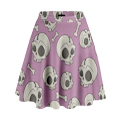 Halloween Skull Pattern High Waist Skirt