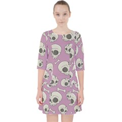 Halloween Skull Pattern Pocket Dress