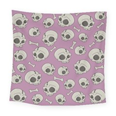 Halloween Skull Pattern Square Tapestry (large)