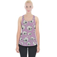 Halloween Skull Pattern Piece Up Tank Top