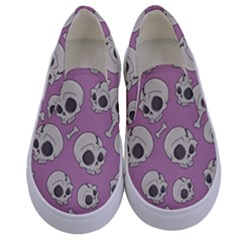 Halloween Skull Pattern Kids  Canvas Slip Ons