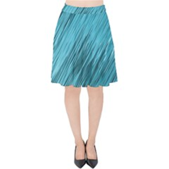 Banner Header Velvet High Waist Skirt by Jojostore