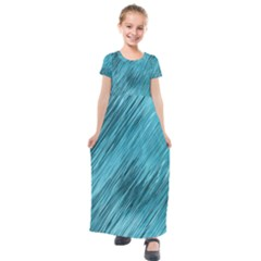 Banner Header Kids  Short Sleeve Maxi Dress by Jojostore
