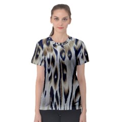 Tiger Background Fabric Animal Motifs Women s Sport Mesh Tee by Jojostore