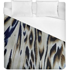 Tiger Background Fabric Animal Motifs Duvet Cover (king Size) by Jojostore