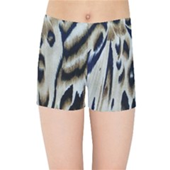 Tiger Background Fabric Animal Motifs Kids Sports Shorts
