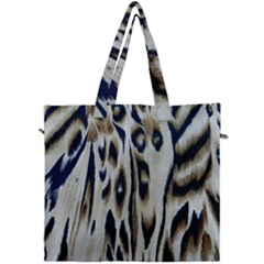 Tiger Background Fabric Animal Motifs Canvas Travel Bag by Jojostore