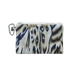 Tiger Background Fabric Animal Motifs Canvas Cosmetic Bag (small)