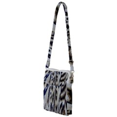 Tiger Background Fabric Animal Motifs Multi Function Travel Bag