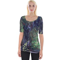 Backdrop Background Abstract Wide Neckline Tee by Jojostore
