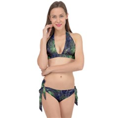 Backdrop Background Abstract Tie It Up Bikini Set