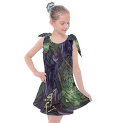 Backdrop Background Abstract Kids  Tie Up Tunic Dress by Jojostore