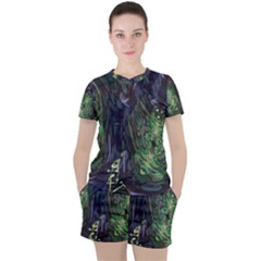 Backdrop Background Abstract Women s Tee And Shorts Set by Jojostore