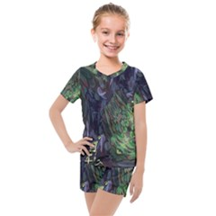 Backdrop Background Abstract Kids  Mesh Tee And Shorts Set by Jojostore