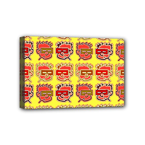 Funny Faces Mini Canvas 6  X 4  (stretched) by Jojostore