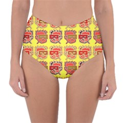 Funny Faces Reversible High Waist Bikini Bottoms