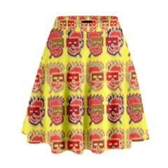Funny Faces High Waist Skirt by Jojostore
