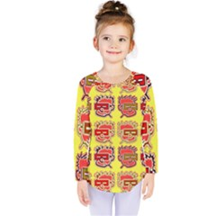 Funny Faces Kids  Long Sleeve Tee