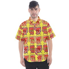 Funny Faces Men s Short Sleeve Shirt