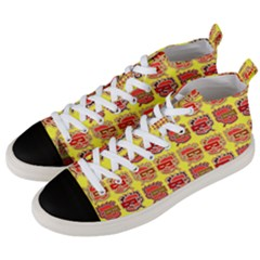 Funny Faces Men s Mid Top Canvas Sneakers by Jojostore