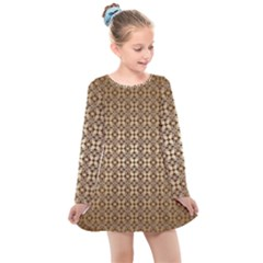 Background Seamless Repetition Kids  Long Sleeve Dress