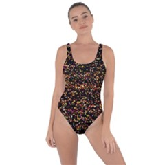 Colorful And Glowing Pixelated Pattern Bring Sexy Back Swimsuit by Jojostore