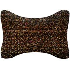 Colorful And Glowing Pixelated Pattern Seat Head Rest Cushion by Jojostore