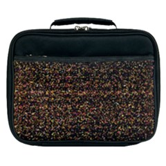 Colorful And Glowing Pixelated Pattern Lunch Bag by Jojostore