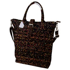 Colorful And Glowing Pixelated Pattern Buckle Top Tote Bag