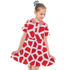 Animal Animalistic Pattern Kids  Short Sleeve Shirt Dress