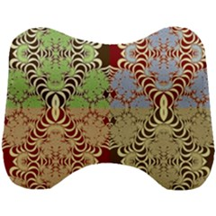 Multicolor Fractal Background Head Support Cushion