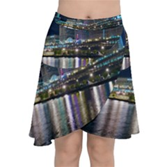 Cleveland Building City By Night Chiffon Wrap Front Skirt