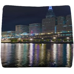 Cleveland Building City By Night Seat Cushion by Jojostore
