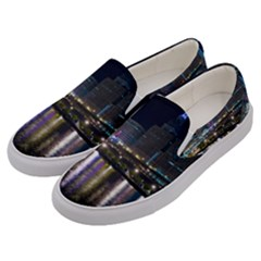 Cleveland Building City By Night Men s Canvas Slip Ons by Jojostore