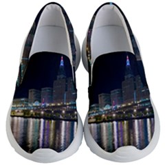 Cleveland Building City By Night Kid s Lightweight Slip Ons