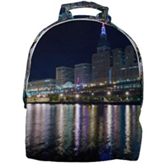 Cleveland Building City By Night Mini Full Print Backpack by Jojostore