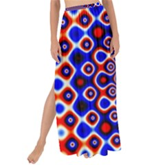 Digital Art Background Red Blue Maxi Chiffon Tie Up Sarong