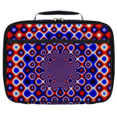 Digital Art Background Red Blue Full Print Lunch Bag by Sapixe