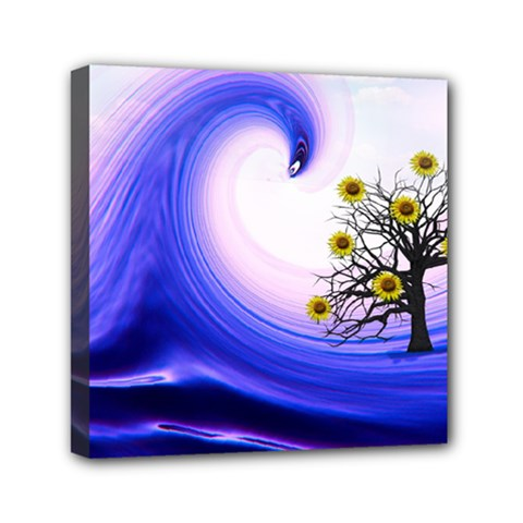 Composing Nature Background Graphic Mini Canvas 6  X 6  (stretched) by Sapixe