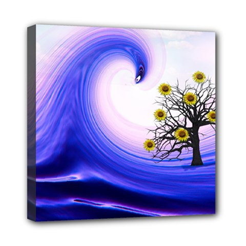 Composing Nature Background Graphic Mini Canvas 8  X 8  (stretched) by Sapixe