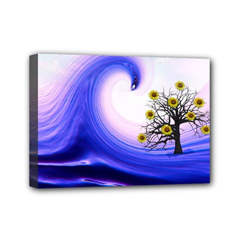 Composing Nature Background Graphic Mini Canvas 7  X 5  (stretched) by Sapixe