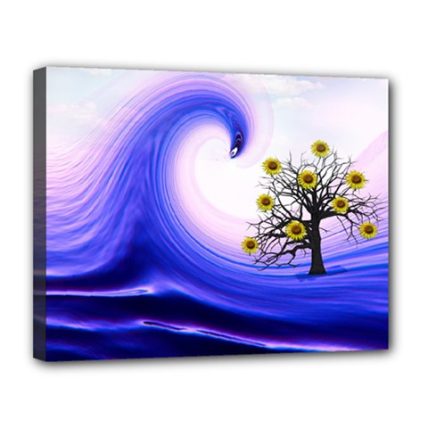 Composing Nature Background Graphic Canvas 14  X 11  (stretched)
