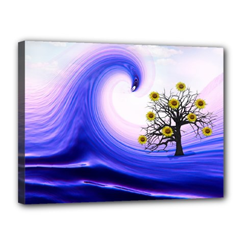 Composing Nature Background Graphic Canvas 16  X 12  (stretched) by Sapixe