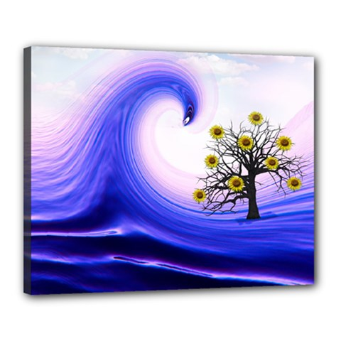 Composing Nature Background Graphic Canvas 20  X 16  (stretched) by Sapixe